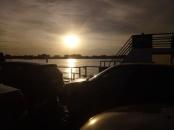 atardecer sobre el río Paraguay